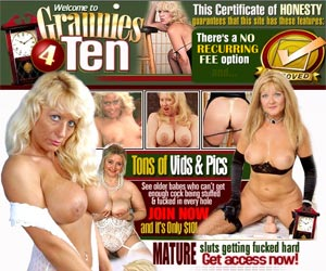 Grannies 4 Ten - Mature Sluts Getting Fucked Hard